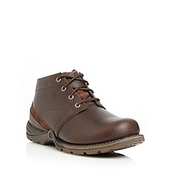 Caterpillar - Chocolate leather ankle boots