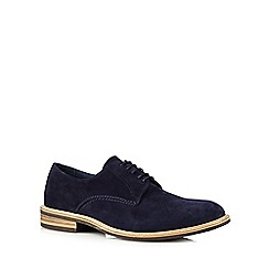 Jeff Banks - Designer navy suede lace up shoes