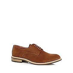 Jeff Banks - Designer tan suede lace up shoes