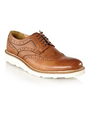 Designer tan cyprus wedge sole brogues