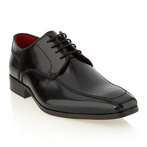 Jeff Banks - Designer black patent tramline shoes
