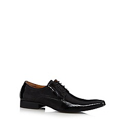 Jeff Banks - Black patent striped lace up shoes