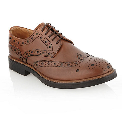 RJR.John Rocha - Designer tan +conifer+ chunky brogue shoes
