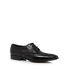 J by Jasper Conran - Black leather wing tip brogues