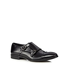 J by Jasper Conran - Black leather monk strap shoes