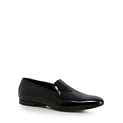 Hammond & Co. by Patrick Grant - Black leather patent slip-on shoes