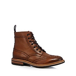 Hammond & Co. by Patrick Grant - Tan 'Elijah' ankle-high brogue boots