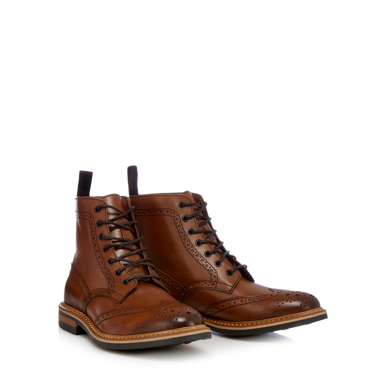 Mens leather gloves at debenhams - Hammond Co By Patrick Grant Tan Elijah Ankle High Brogue
