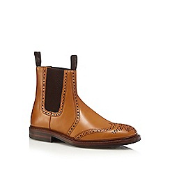 Loake - Tan elasticated insert ankle boots