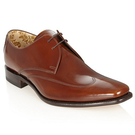 Loake - Wide fit tan pointed toe shoes