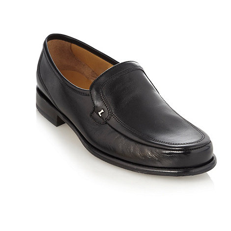 Loake - Wide fit black moccasin shoes