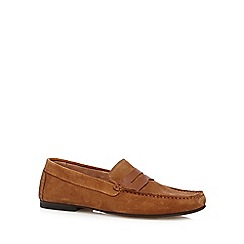 Jeff Banks - Designer tan suede loafers