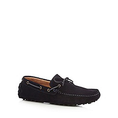 Jeff Banks - Designer navy suede loafers