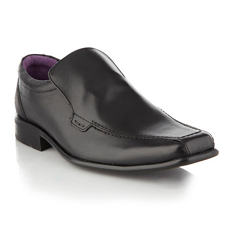 Jeff Banks - Designer black curved stitch detail shoes