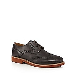 Red Herring - Chocolate leather brogues