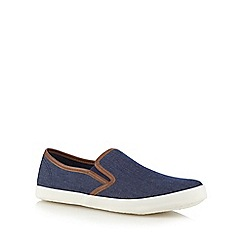 Red Herring - Navy trim slip on shoes