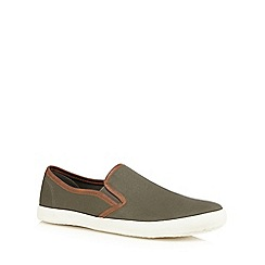 Red Herring - Khaki trim slip on shoes