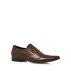 Red Herring - Brown leather slip-on shoes