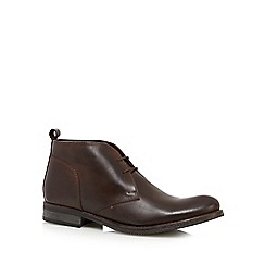 RJR.John Rocha - Dark brown leather chukka boots