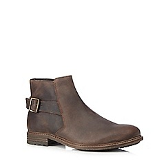 Red Herring - Brown leather buckle ankle boots