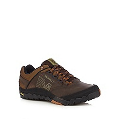 Merrell - Brown leather blend trainers