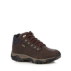 Merrell - Dark brown leather blend hiking boots