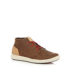 Merrell - Brown leather blend chukka boots