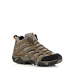 Merrell - Grey leather blend hiking boots