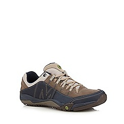 Merrell - Navy leather blend casual shoes