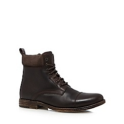 Red Herring - Dark brown leather ankle boots
