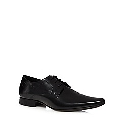 Red Herring - Black leather high shine derby shoes
