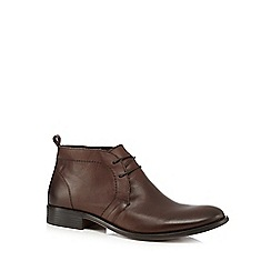 Red Herring - Brown leather chukka boots