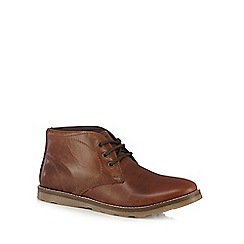 Mantaray - Tan lace up chukka boots