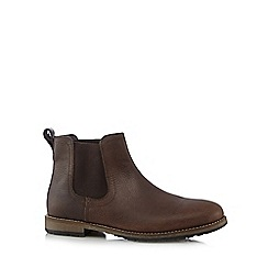 Red Herring - Dark brown leather chelsea boots
