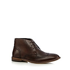 Red Herring - Chocolate leather chukka brogue boots