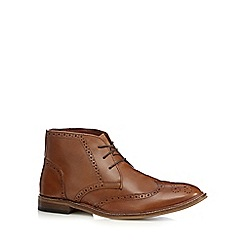 Red Herring - Tan leather chukka brogue boots