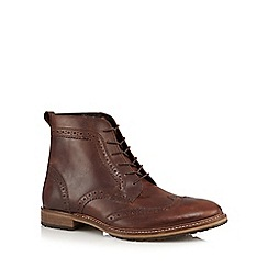 Red Herring - Tan leather brogue boots