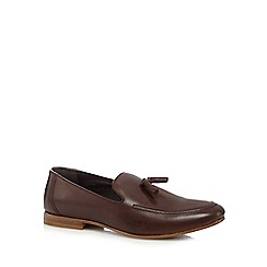 Red Herring - Dark brown tassel loafers