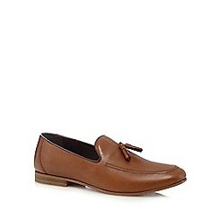 Red Herring - Tan tassel loafers