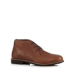 Henley Comfort - Big and tall tan lace up chukka boots
