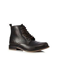 Hammond & Co. by Patrick Grant - Big and tall dark brown lace up boots