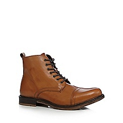 Hammond & Co. by Patrick Grant - Big and tall tan 'rocky' leather toe cap boots