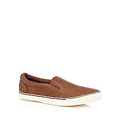 Red Herring - Tan slip-ons