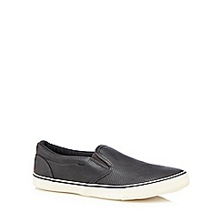 Red Herring - Dark grey slip-ons