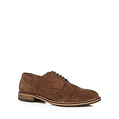 Red Herring - Dark brown suede brogues