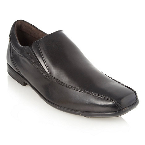 Base London - Black twin gusset slip on shoes