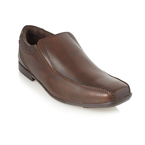 Base London - Brown leather slip on shoes
