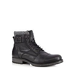Jack & Jones - Black toe cap boots