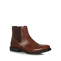 Jack & Jones - Brown 'Radnor' leather Chelsea boots