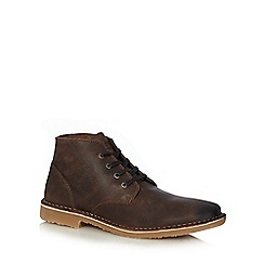 Jack & Jones - Brown leather boots